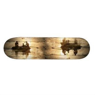 Primitive country lake boat canoe fishing skateboard deck