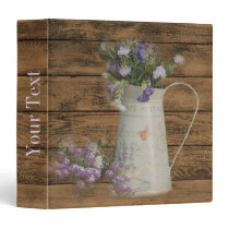 primitive country lavender rustic barn wood binder