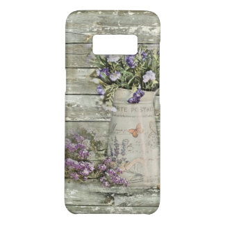 primitive country lavender rustic barn wood Case-Mate samsung galaxy s8 case
