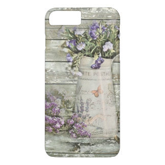 primitive country lavender rustic barn wood iPhone 8 plus/7 plus case