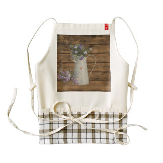 primitive country lavender rustic barn wood zazzle HEART apron