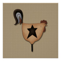 Primitive Country  Rooster Decor