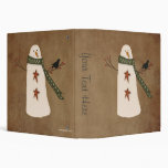Primitive Country Snowman Binder