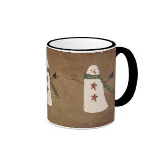 Primitive Country Snowman Mug