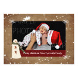 "Primitive Country Snowman Photo Christmas Card 5"" X 7"" Invitation Card"