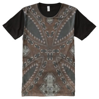 Primitive cowboy western country Tooled Leather All-Over-Print Shirt