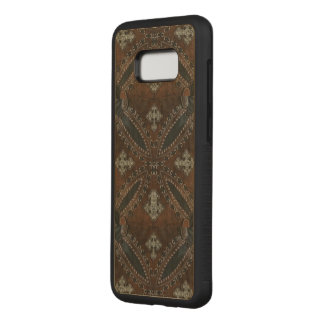 Primitive cowboy western country Tooled Leather Carved Samsung Galaxy S8+ Case