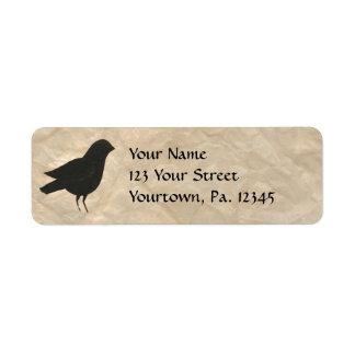 Primitive Crow Address Label