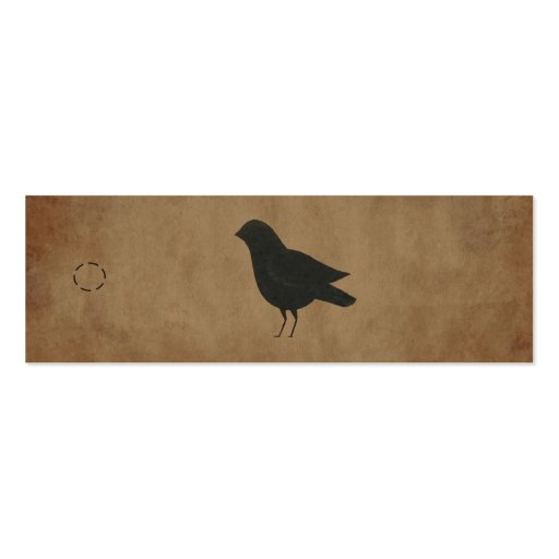 Primitive Crow Hang Tag Double-Sided Mini Business Cards (Pack Of 20)