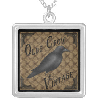 Primitive Crow Necklace Pendant