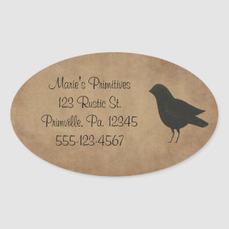 Primitive Crow Sticker