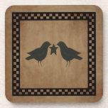 Primitive Crows Cork Coaster