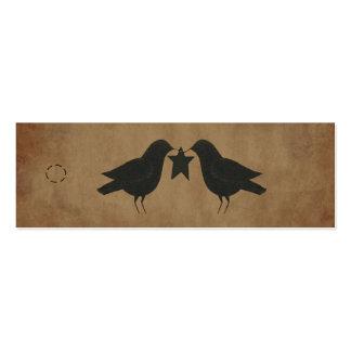 Primitive Crows Hang Tag Mini Business Card
