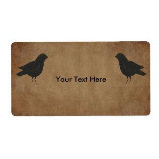 Primitive Crows Product Label