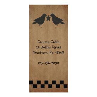 Primitive Crows Rack Card Book Mark