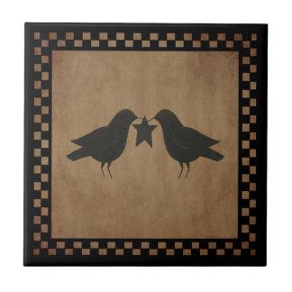 Primitive Crows Tile