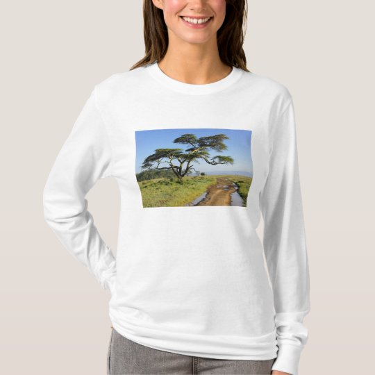 Primitive dirt road and acacia tree, Lake Nakuru T-Shirt