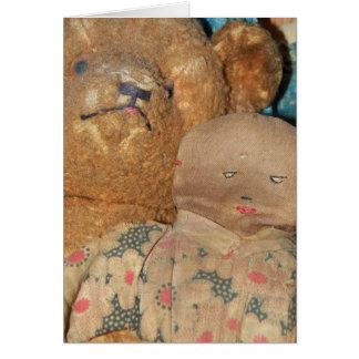 Primitive Doll & Bear Blank Card