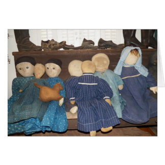 Primitive Doll Collection Blank Card
