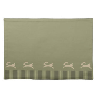 Primitive Easter Bunny Olive Green Placemat