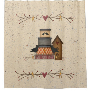 Primitive Faith Family Friends Shower Curtain