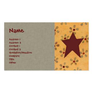 Primitive Floral Profile Card Business Card