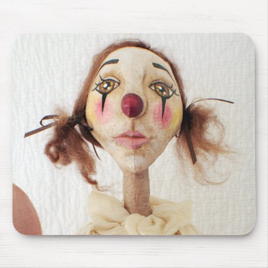 Primitive Folk Art Clown Mouse Pad