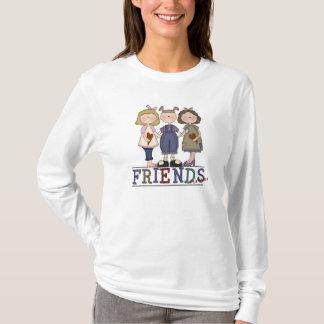 Primitive Folk Art Friends Forever Women's Shirt