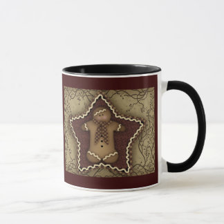"Primitive Gingerbread ""Gingerberry"" Mug"