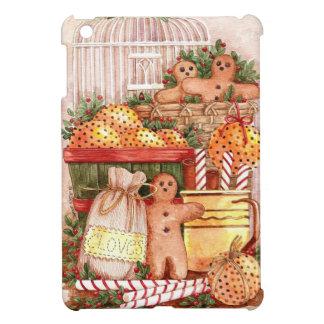 Primitive Gingerbread Peppermint Cloves iPad Mini Cases