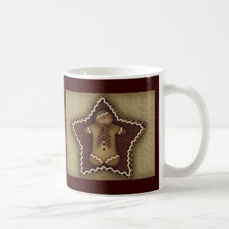 Primitive Gingerbread Star Mug