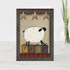 Primitive Greeting Card card
