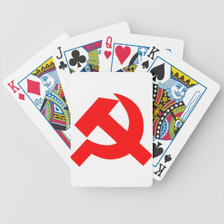 Primitive Hammer and Sickle Soviet Union CCCP Bicycle Playing Cards