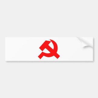 Primitive Hammer and Sickle Soviet Union CCCP Bumper Sticker