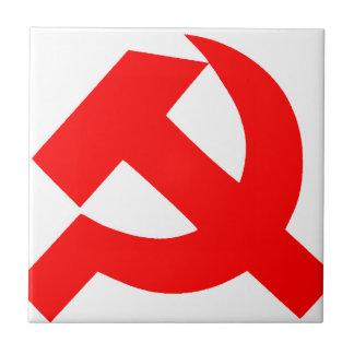 Primitive Hammer and Sickle Soviet Union CCCP Ceramic Tile