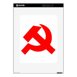 Primitive Hammer and Sickle Soviet Union CCCP Decal For The iPad