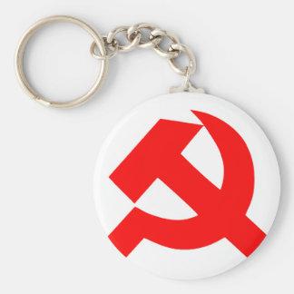 Primitive Hammer and Sickle Soviet Union CCCP Keychain