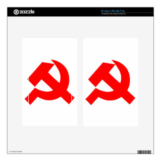 Primitive Hammer and Sickle Soviet Union CCCP Kindle Fire Decal