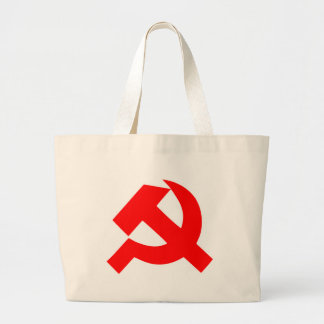 Primitive Hammer and Sickle Soviet Union CCCP Large Tote Bag