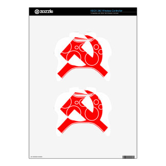 Primitive Hammer and Sickle Soviet Union CCCP Xbox 360 Controller Decal