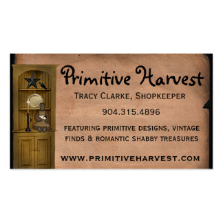 Primitive Harvest Custom Business Card