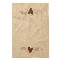 Primitive Heart Kitchen Towel
