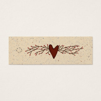 Primitive Heart Skinny Hang Tag