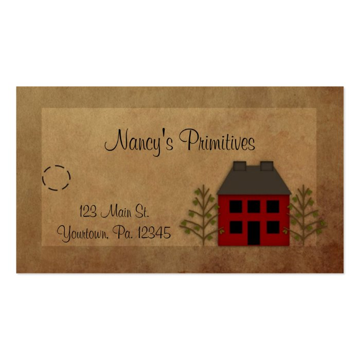 Primitive Home Hang Tag Business Card