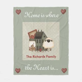 Primitive Homes Fleece Blanket