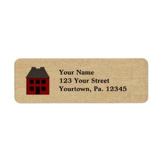 Primitive House Address Label