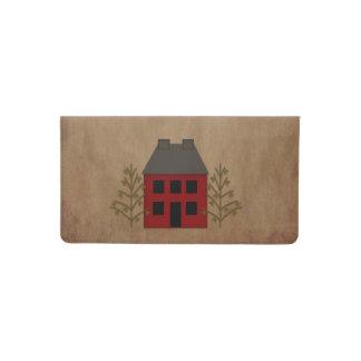 Primitive House Checkbook Cover