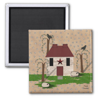 Primitive House Magnet