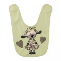 Primitive Lamb-God Bless Ewe Bib