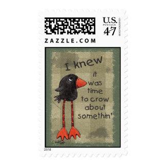 Primitive-Long Legged Crow Postage